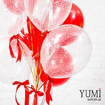 Новогодняя связка из 13 гелиевых шаров с декором, фото 3