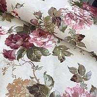 Ткань декоративная с тефлоновой пропиткой с крупными розами