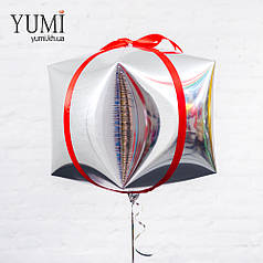Воздушный шарик в форме новогоднего подарка