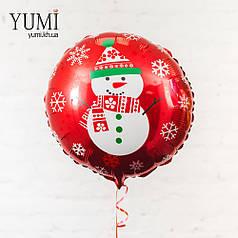 Фольгированный гелиевый шар со снеговиком