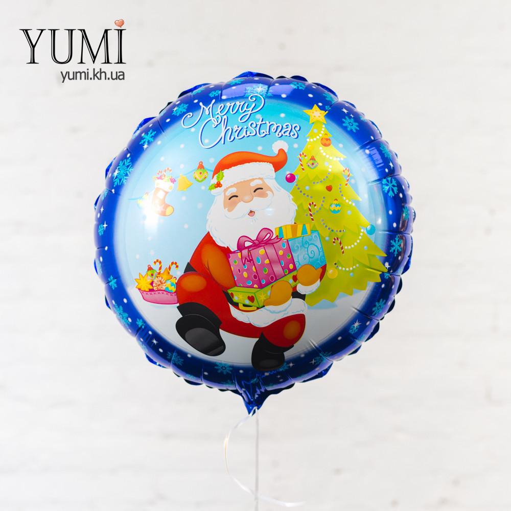 Воздушный новогодний шарик с гелием