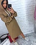 Женское прямое платье-худи с капюшоном и карманам (в расцветках), фото 3