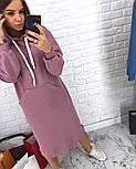 Женское прямое платье-худи с капюшоном и карманам (в расцветках), фото 5