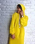 Женское прямое платье-худи с капюшоном и карманам (в расцветках), фото 6