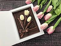 Шоколадные тюльпаны c наилучшими пожеланиями жене