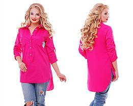Рубашка женская Стиль малина Размеры 48, 52 , фото 2