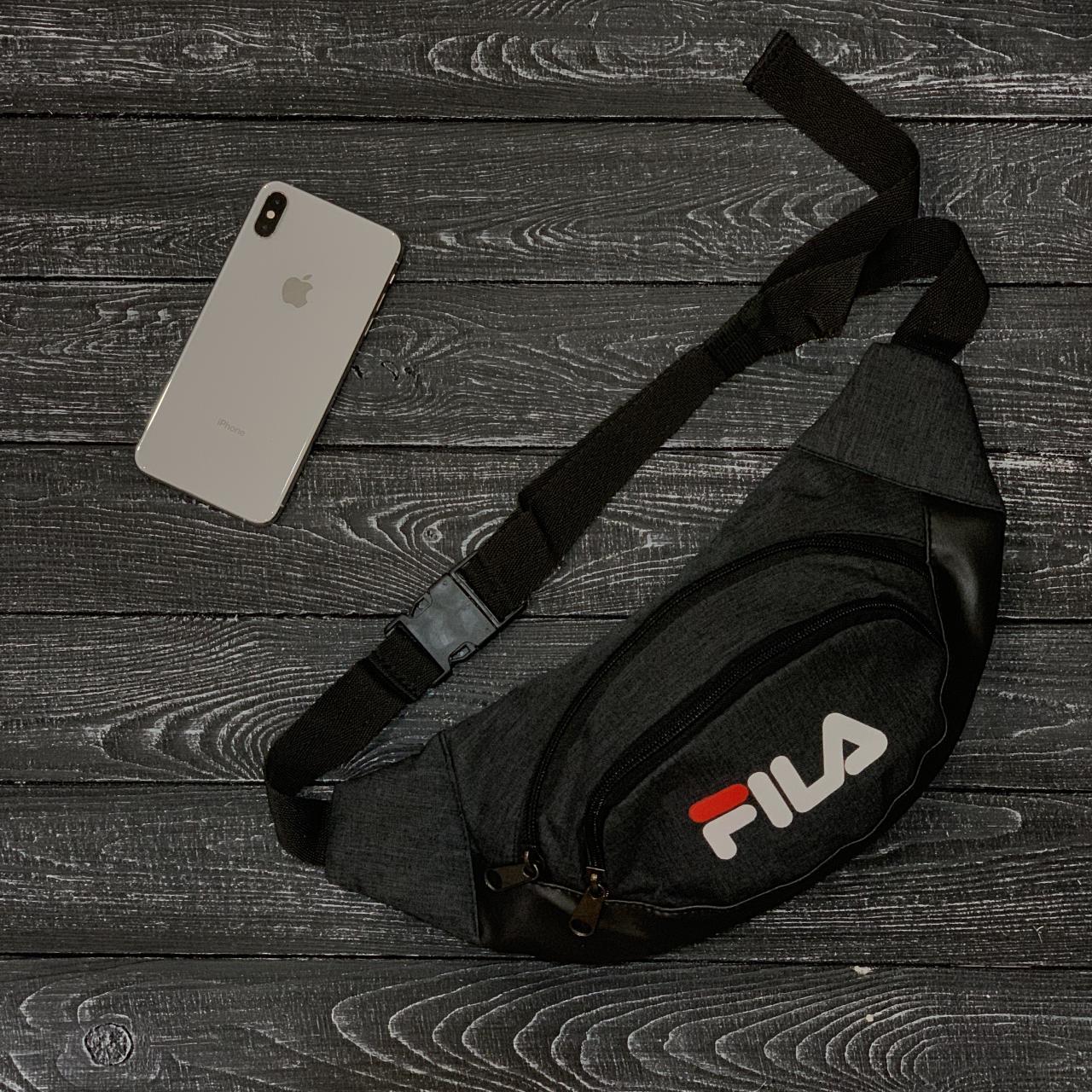 Поясная сумка, бананка, сумка на пояс FILA, цвет черный, фото 1