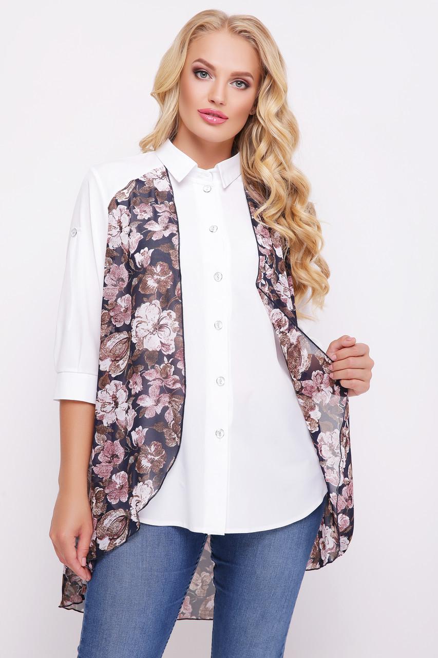 Двойной блузон  с цветочным принтом