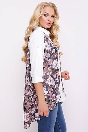 Двойной блузон  с цветочным принтом, фото 2