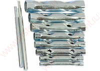 Набор ключей-трубок торцевых, 6 х 22 мм, 2 воротка, оцинкованные, 10 шт. SPARTA 137525