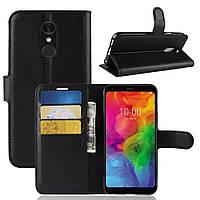 Чехол-книжка Litchie Wallet для LG Q7 Черный
