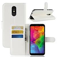 Чехол-книжка Litchie Wallet для LG Q7 Белый