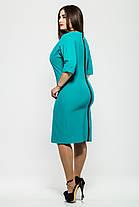 Платье повседневное  Оливия бирюза, фото 3
