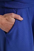 Расклешенное торжественное платье цвет электрик размер 48,50,52,54 с запАхом, фото 3