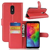 Чехол-книжка Litchie Wallet для LG Q7 Красный
