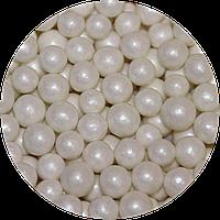 Шарики сахарные перламутровые белые 7 мм, 200 грамм