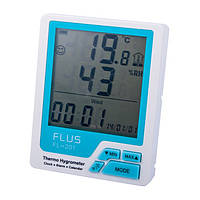 """Измеритель температуры и влажности с часами """"FL-201"""""""