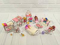 Комплект мебели для маленьких кукол 12 предметов для маленьких кукол