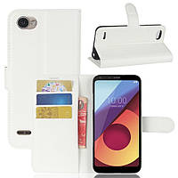 Чехол-книжка Litchie Wallet для LG Q6 / Q6+ / Q6a / Q6 Prime Белый