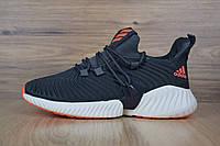 Кроссовки мужские Adidas Alphabounce Instinct в стиле Адидас Альфабоунс,текстиль,текстиль код OD-1696. Серые