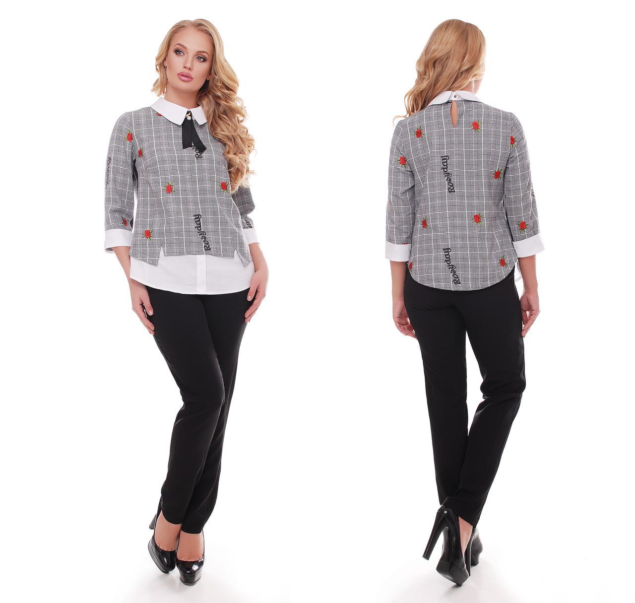 646717c1bb3 Костюм брючный Вилена с вышивкой - Интернет-магазин модной женской одежды  Кардиган в Киеве
