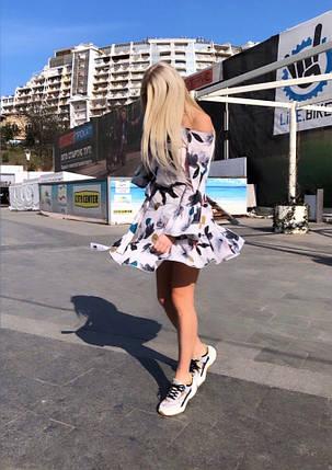 """Короткое летнее платье """"Nicole"""" с оголенными плечами , фото 2"""