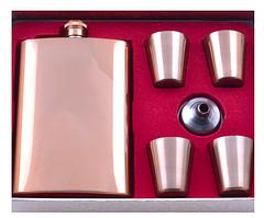 Подарочный набор с Флягой, лейкой, 4 рюмками TZ-22