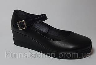 Туфлі жіночі шкіряні чорні Sara Black Leather, розмір 36-40