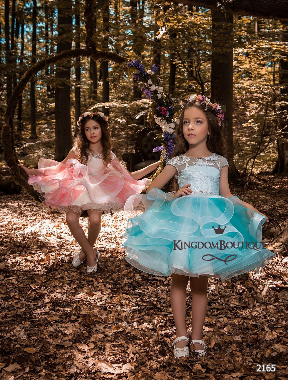 Платье детское нарядное воздушное, с пышной юбкой.