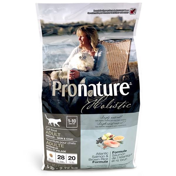 Сухой корм для взрослых котов Pronature Holistic Adult с атлантическим лососем и коричневым рисом 2,72 кг