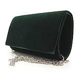 Велюровий вечірній жіночий клатч Rose Heart 8728-1 зелений маленький на ланцюжку, фото 3