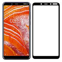 Защитное стекло для Nokia 3.1 Plus / TA-1104 Full Cover черный 0,3 мм в упаковке