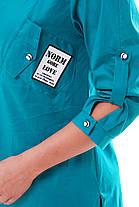 Рубашка женская Стиль бирюза Размеры 48, 50, 52, 54, 56, 58., фото 3