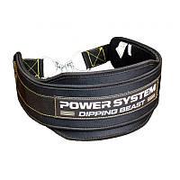 Пояс для отягощений Power System Dipping Beast PS-3860 Black/Yellow, фото 1