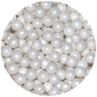 Шарики сахарные перламутровые белые 5 мм, 200 грамм