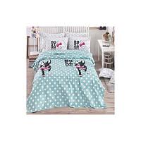 Подростковое постельное белье ранфорс Eponj Home Pike Boston Ментоловый