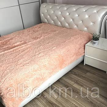 Плед Травка на диван ліжко, покривало на ліжко, комплект покривало на ліжко недорого, ворсовий плед на диван ліжко ALBO 160х200 cm