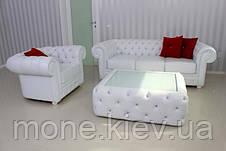 Кожаный трехместный диван Честер, фото 3
