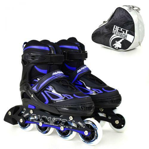 "Ролики ""Best Roller"", размер 35-38 (черно-синее) 6006"