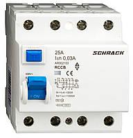Устройство защитного отключения 10кА/30мА 4P 25А тип AC Schrack