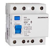 Устройство защитного отключения 10кА/300мА 4P 63А тип AC Schrack