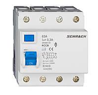 Устройство защитного отключения 10кА/300мА 4P 63А тип AC/S Schrack
