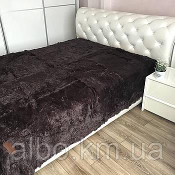 Плед покривало на диван ліжко, плед на диван ліжко, плед для спальні дитячої на диван ліжко, двостороннє хутряне покривало на