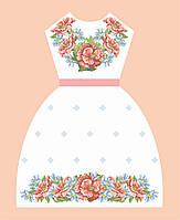 """Заготовка платье для девочки """"Маки"""""""