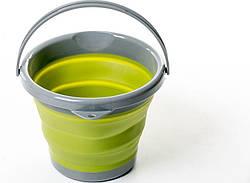 Складное ведро силиконовое 5л Tramp TRC-092 Olive