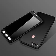 Чехол DualHard 360 для Xiaomi mi A1 / mi 5x Бампер + стекло в подарок Black