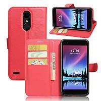 Чехол-книжка Litchie Wallet для LG K10 2017 M250 Красный