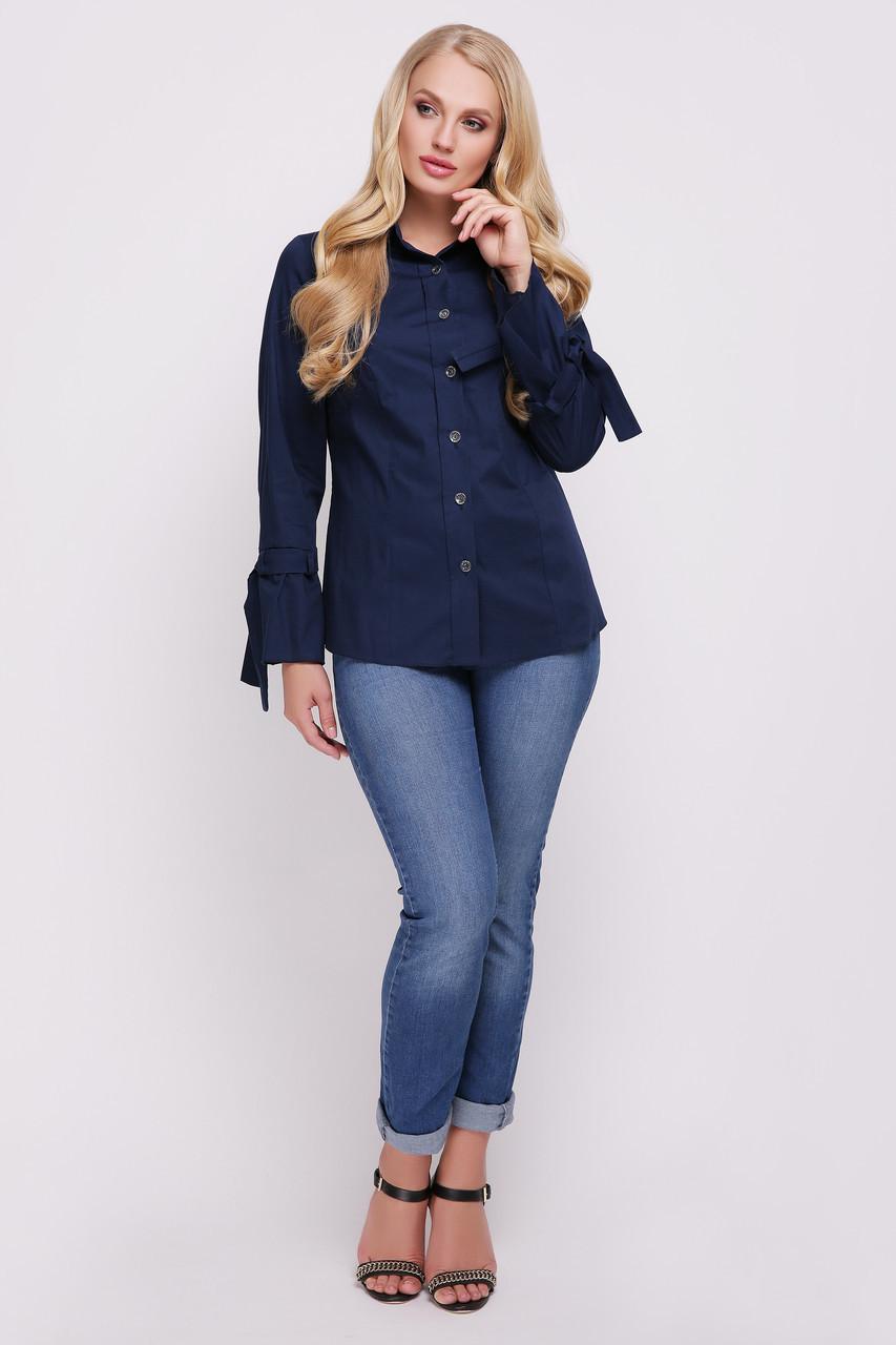 Блуза женская Агата синяя