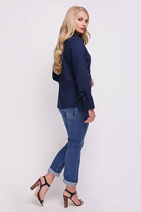 Блуза женская Агата синяя, фото 2