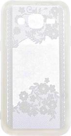 Силикон для Samsung J2 (J200) White Lace2